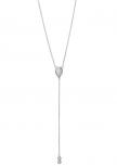 XENOX Damen Kette XS4165 Silber 45 cm Collier Halskette mit Anhänger Opal
