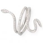 XENOX Damenring XS4205 Silber Ring Schlange Schlangenring