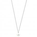 XENOX Damen Kette XS5194 Silber Perle 45 cm Anhänger Perlenkette Halskette