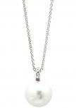 XENOX Damen Kette XS5196 Silber Perle 45 cm Halskette mit Anhänger