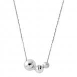 XENOX Damen Kette XS5353 Silber 45 cm Collier Halskette Kugel Halsschmuck