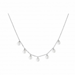 XENOX Damen Kette XS5364 Silber Ketten - Anhänger Halskette Collier Perlen
