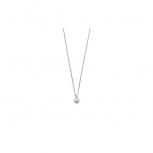 XENOX Damen Kette XS5368 Silber Perle 45cm Perlenkette Halskette