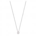 XENOX Damen Kette XS7281 Silber Collier Halskette mit Anhänger Solitär