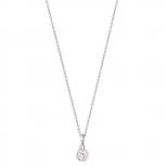 XENOX Damen Kette XS7285 Silber 45cm Collier Halskette mit Anhänger