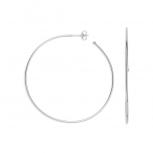 XENOX Ohrringe XS8652 Silber Steckcreole Creolen 70 mm XL groß
