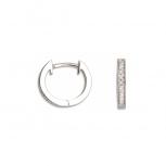 XENOX Ohrringe XS8656 Silber Scharnier Creolen Damenohrringe Ohrschmuck