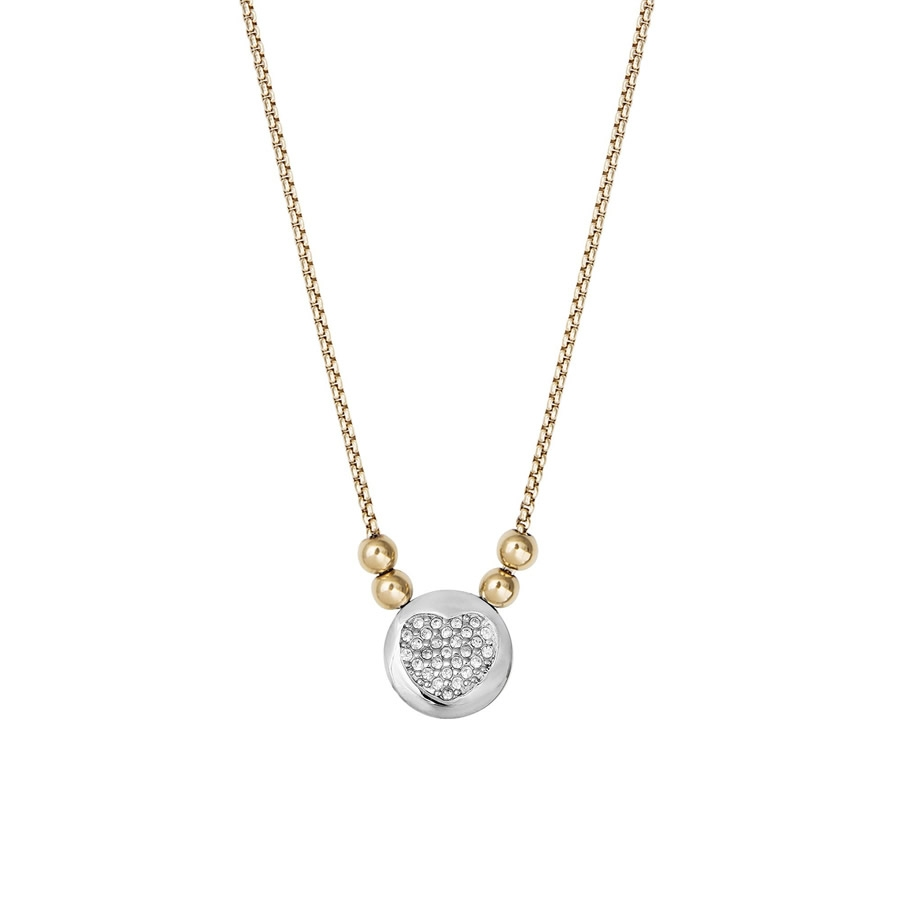 8b8d489b65 NEW XENOX Damen Kette XS2617G Silber Gold Collier Halskette mit Anhänger  Herz