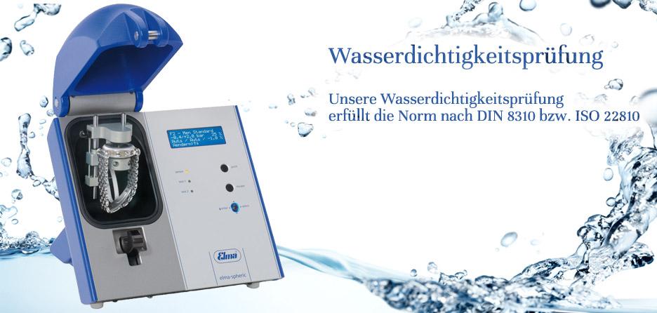 Wasserdichtigkeitprüfung